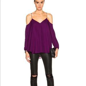 Haute Hippie Cold-Shoulder blouse